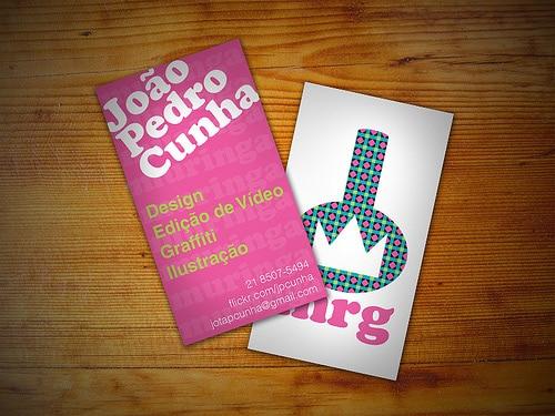 João Pedro's cartão (João Pedro's Business Card)