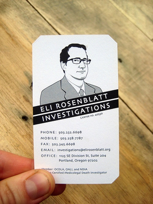 Business Card for Eli Rosenblatt