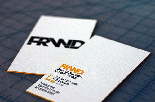 FRWD Business Cards By Justin Mckinley