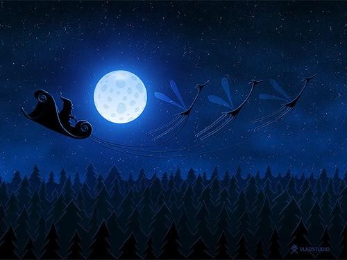 Santa Flying 2