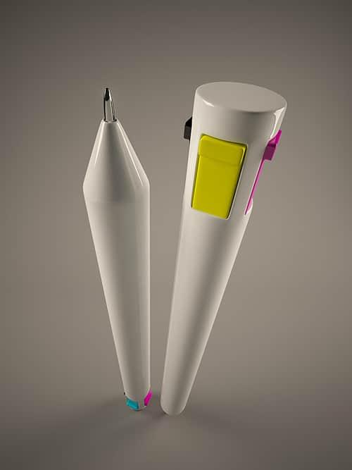 CMYK pen for designers