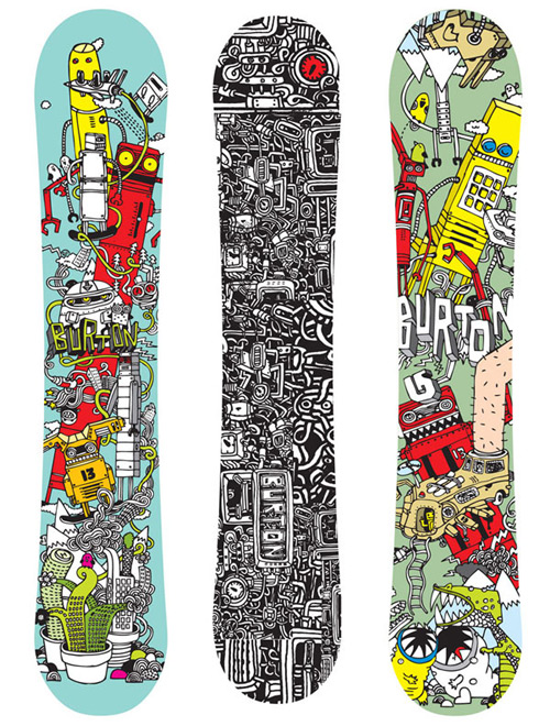 Snowboard design by Ghica Popa