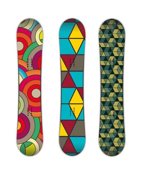 Snowboard design by Arnaud de Conti
