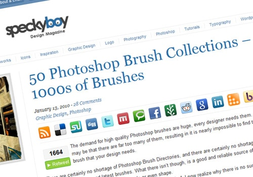 50 Photoshop Brush Collections – 1000s of Brushes