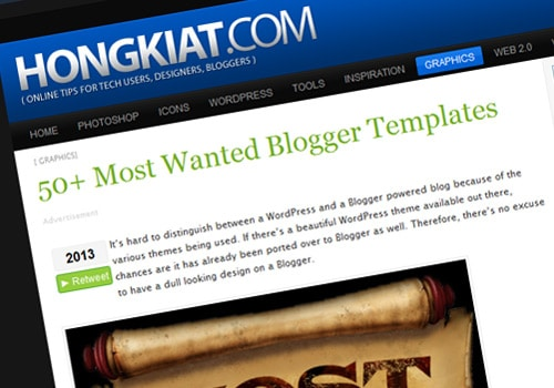 50+ Most Wanted Blogger Templates