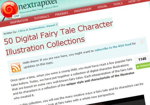 50 Digital Fairy Tale Character Illustration Collections