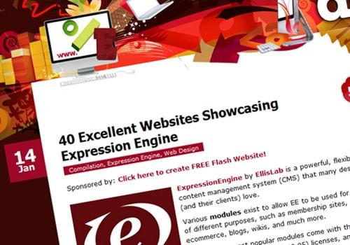40 Excellent Websites Showcasing Expression Engine