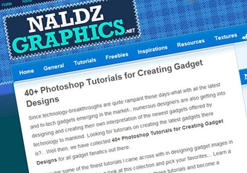 40+ Photoshop Tutorials for Creating Gadget Designs