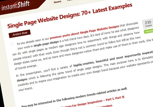 Single Page Website Designs: 70+ Latest Examples