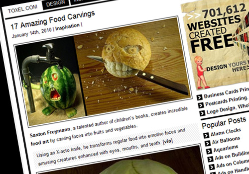 17 Amazing Food Carvings