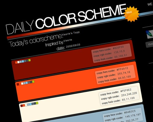 Daily Color Scheme