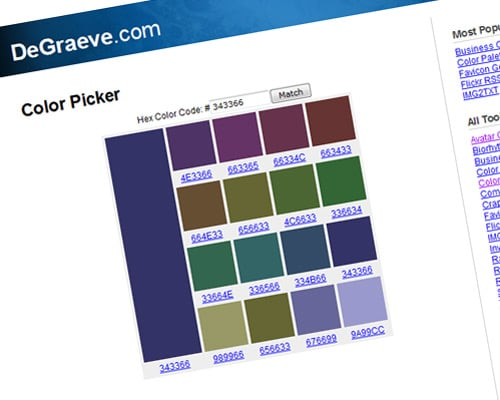 degraeve.com | Color Picker