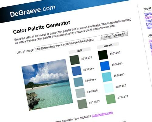 degraeve.com | Color Palette Generator