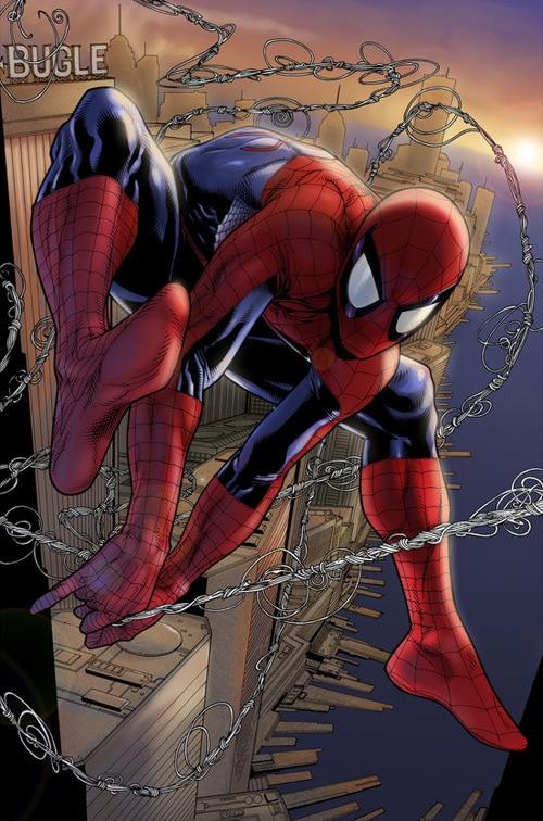 Spiderman - morning swinger by Simon Gough