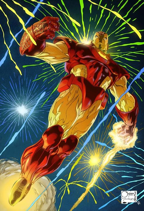 Iron Man 26 cover coloured by Simon Gough
