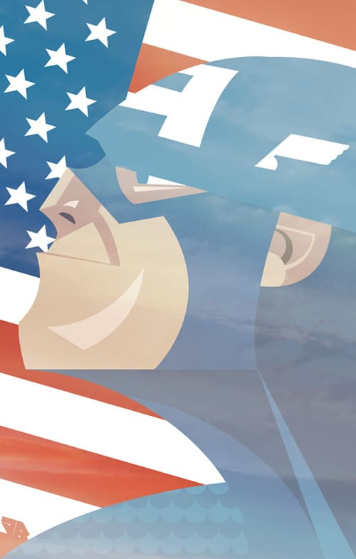Captain America Geo by Jamie Roberts
