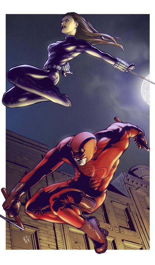 Daredevil n' Black Widow by Simon Gough