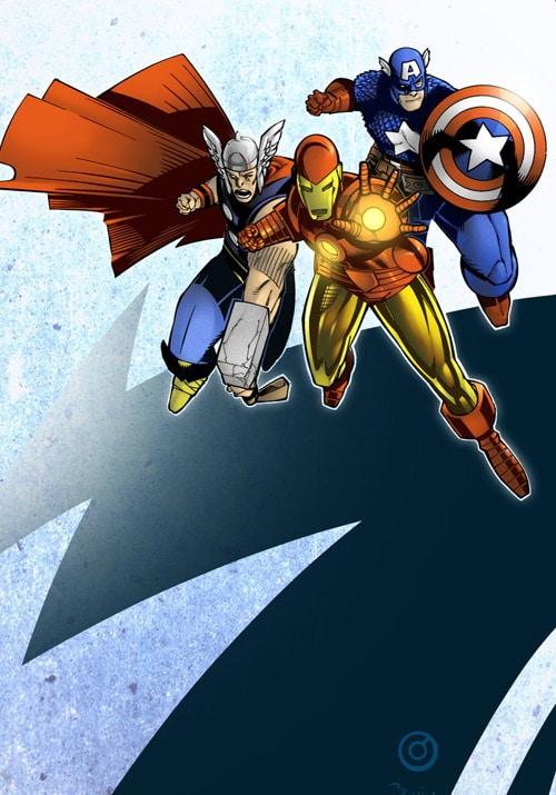 Original Avengers - colours by Simon Gough