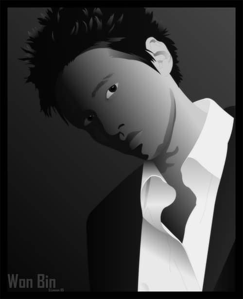 Korean Star – Won Bin by Funky-Chickin