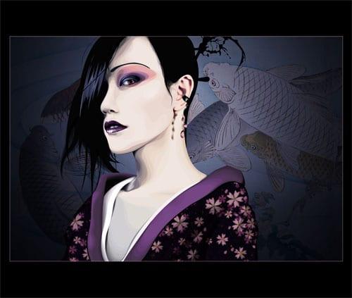 Oriental Portrait VI by Cerbercus