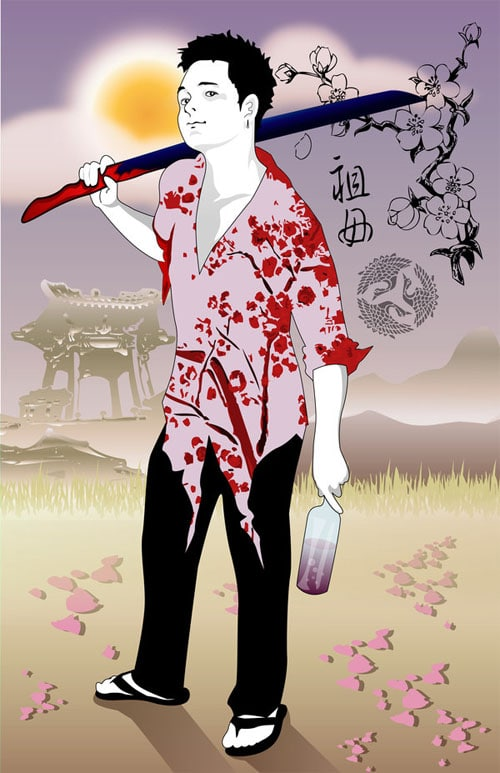 Samurai of Cherries by seisho-kun