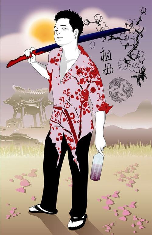 Samurai of Cherries by seisho-kun