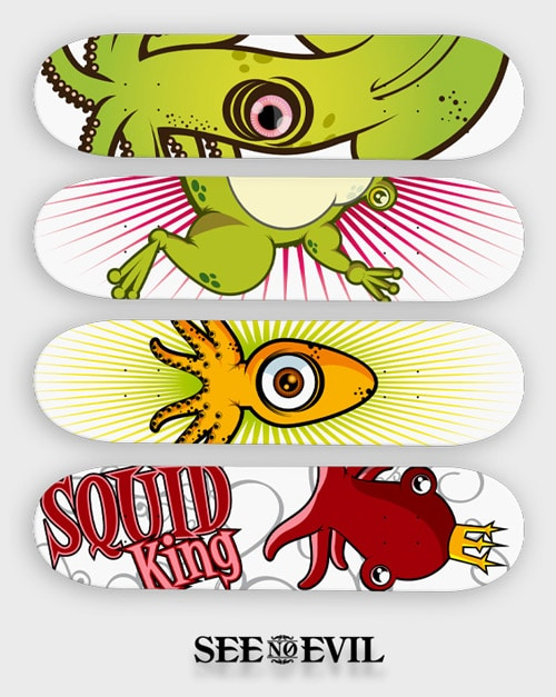 Skate decks by Magnus Snickars