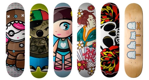 cute skate decks by thecuteinstitute