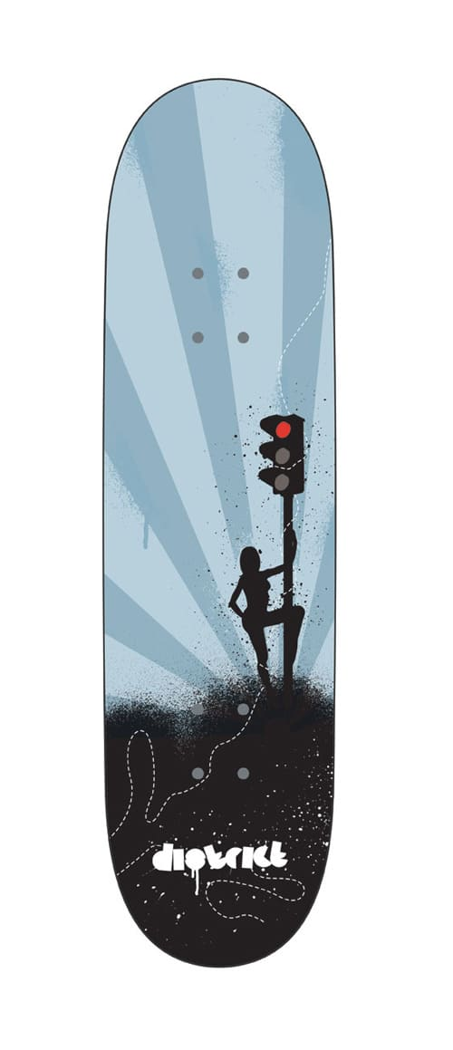 district skateboard design by sykologic