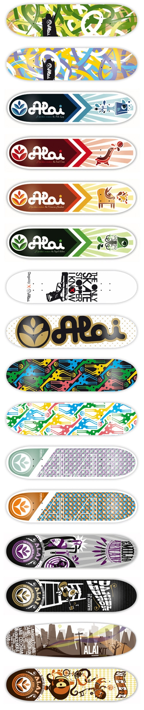 Skateboard designs by Ruben Sanchez