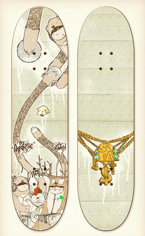 skateboards deck design by incogburo