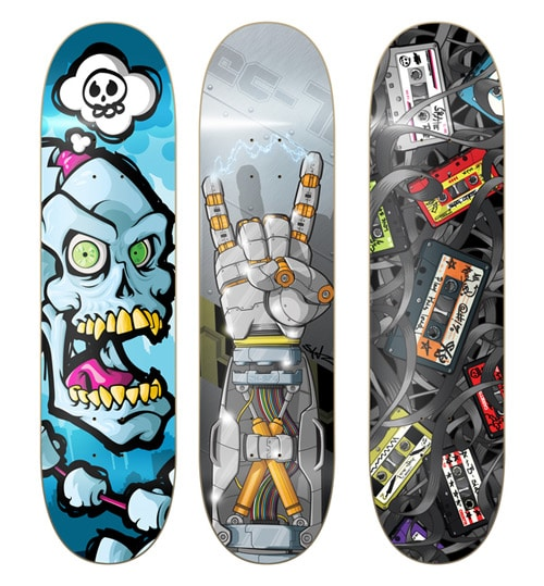 Skateboard Design Ideas 100 crazy skateboard designs abduzeedo graphic design inspiration and photoshop tutorials Skate Decks By Jesse Sanz