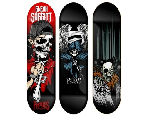 Skateboard Artwork by Nathan Matthews