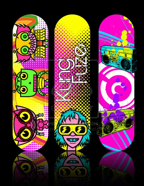 skateboard decks2 by danikungfuze