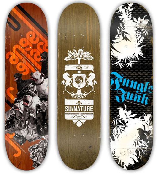 Skateboard decks by Karoly Kiralyfalvi