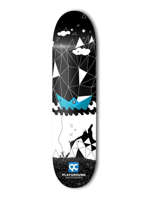 Playground skateboards / Blue ship by Istvan Vasil