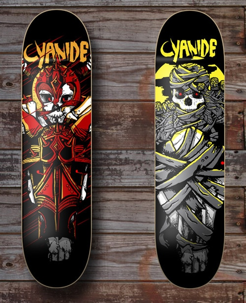 Cyanide Skateboards by Steven Dunn