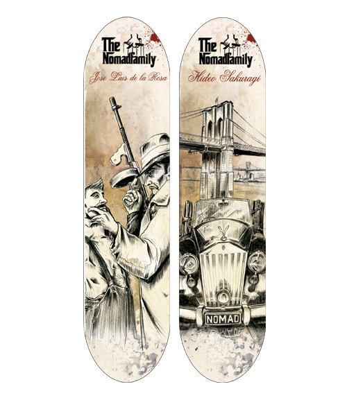 Illustrations for NOMAD SKATEBOARD by Xavier Gironès