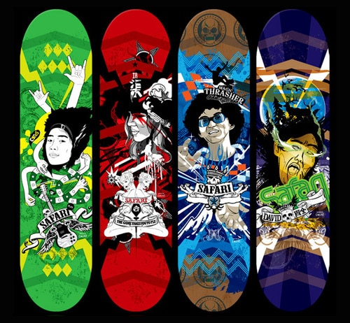Skateboard Design by Nod Young