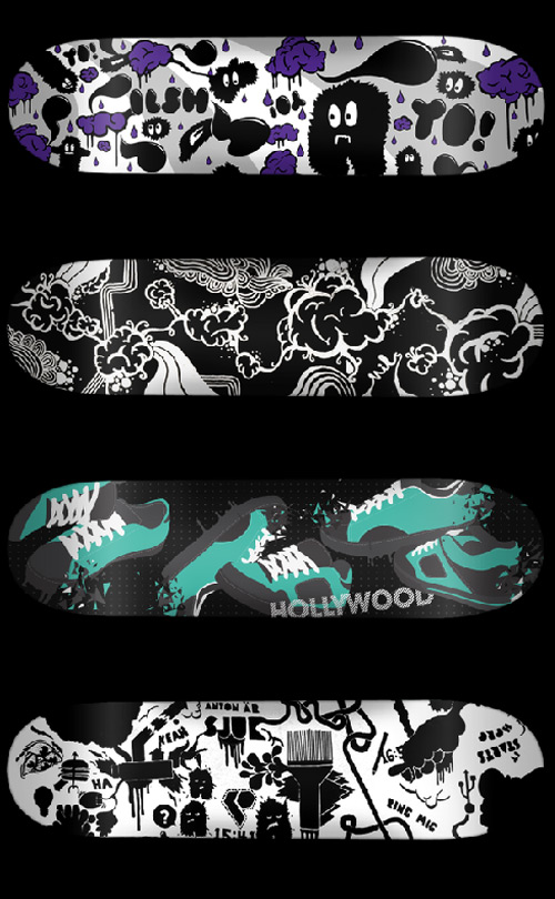 Skateboard Graphics by Nils Carlson