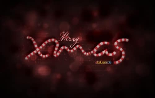 Beautiful Xmas Wallpaper in Cinema 4D and Photoshop