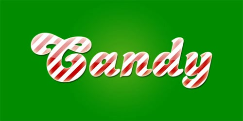 Basic Candy Cane Text Effect in Photoshop