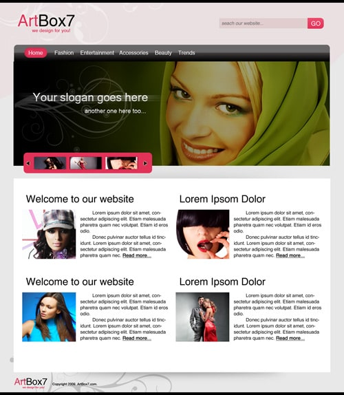Create a Fashion Web Layout (PSD Template) Using Photoshop