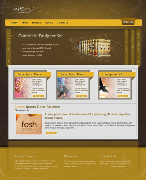 Create a sleek layout with Complete Designer Set from ArtBox7.com