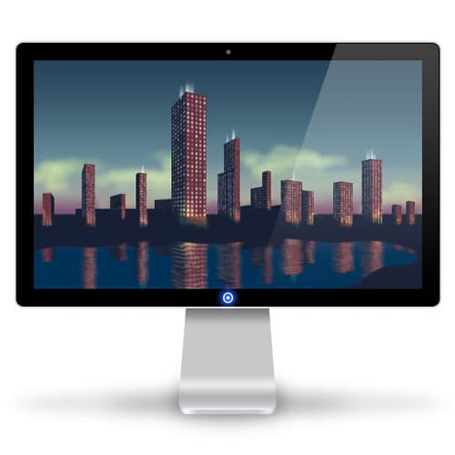 Creating a Set of Digital Painting Icons Part 5 – Cityscape Display Icon