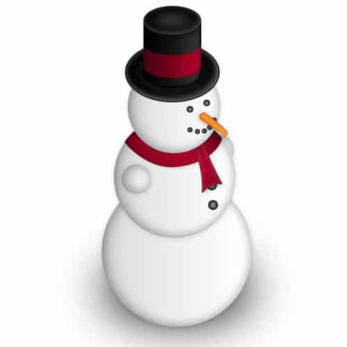 Design a Simple Snowman in Photoshop