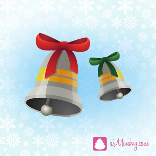 Draw beautiful christmas bells in Illustrator