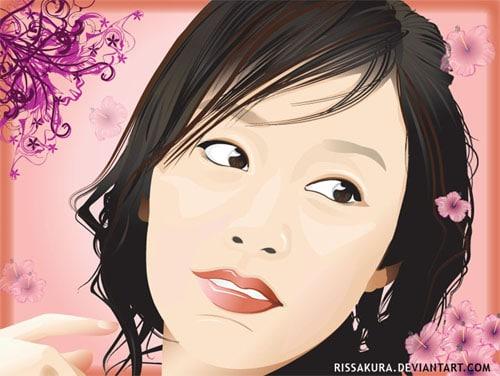Vector Portrait of Kim Tae Hee by RisSakura