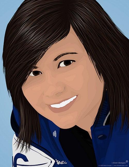 Vector Portrait of Marie 2 by idrawdesigns