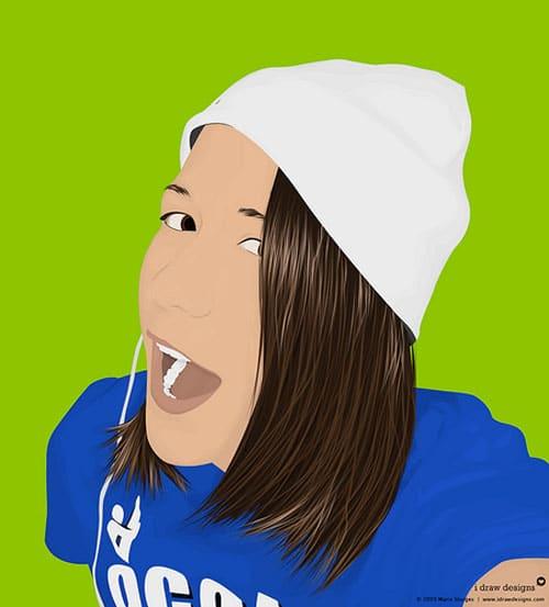Vector Portrait of Tori by idrawdesigns